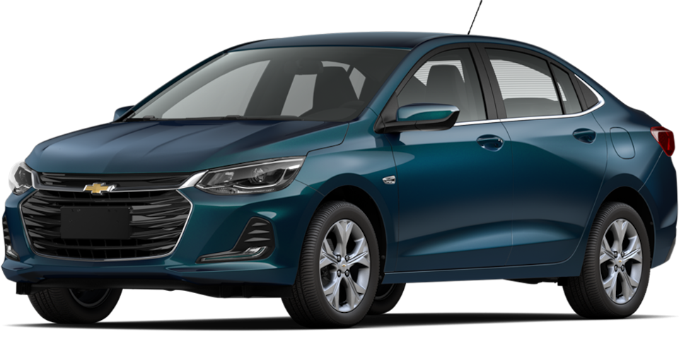 Chevrolet Onix 2021, carro sedán en color azul pacifico